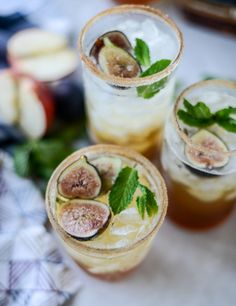minted apple shrub & a maple fig bourbon soda I howsweeteats.com
