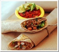 Veggie Burritos: Dinner-To-Go | Healthy Ideas for Kids