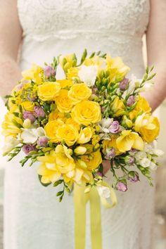 Wedding Yellow Bouquet Natular look ...