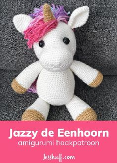 Jazzy the Unicorn Free Amigurumi Pattern Free pattern! Jazzy the Unicorn Amigurumi Pattern crochet toy patterns Jazzy the Unicorn Amigurumi Pattern - Meet your new BFF, Jazzy. She's as magical as she is cuddly, and her wild colorful mane gives her a ton o Crochet Unicorn Pattern Free, Crochet Amigurumi Free Patterns, Crochet Animal Patterns, Stuffed Animal Patterns, Crochet Dolls, Diy Crochet Unicorn, Crochet Stuffed Animals, Easy Crochet Animals, Unicorn Stuffed Animal