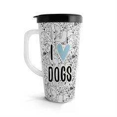 Vasito viajero – I love dogs, encuentra este producto en nuestra tienda online. Love Dogs, Travel Mug, Mugs, Tableware, Vase, Store, Food Cakes, Dinnerware, Tumblers