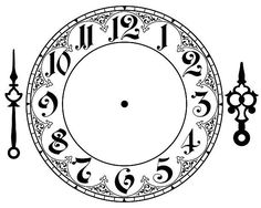 Best Photos of Gothic Clock Face Printable Template - Free Clock Face Template, Clock Face and Printable Clock Hands Template Clock Template, Face Template, Mad Hatter Party, Mad Hatter Tea, Clock Face Printable, Clock Clipart, Clock Drawings, Clock Tattoo Design, Clock Tattoos
