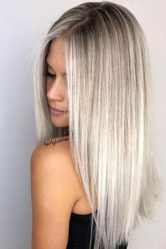 Golden Blonde Balayage for Straight Hair - Honey Blonde Hair Inspiration - The Trending Hairstyle Hair Cut Long, Haircuts For Long Hair Straight, Haircut Long Hair, Long Blunt Haircut, Blonde Long Hair Cuts, Long Hair Styles Straight, Cheveux Ternes, Blonde Hair Looks, Perfect Blonde Hair