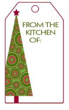 Free Kitchen Christmas Printable Tag.