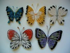 Butterflies Together:  Clare Wong, Hong Kong - Quilled Creations Quilling Gallery