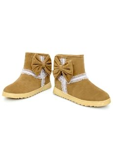 $32.29 Graceful Wool Inner Bowknot Khaki Women's Boots: dressyours.com Women's Boots, Ankle Boots, Cheap Boots, Boots Online, Flats, Sandals, Uggs, Fashion Accessories, Wool