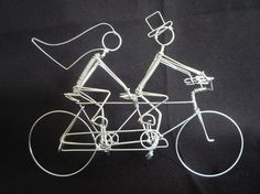 ART OF CYCLING Extra Small 5 inch Tandem Bike by HeatherBoydWire, $89.00