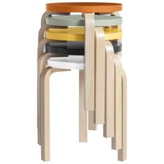 Stool 60 Colored Top by Artek
