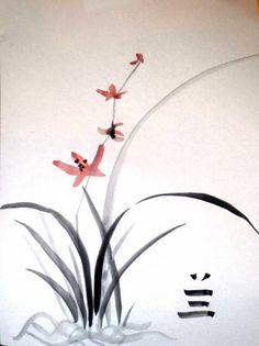 Орхидея - Живопись У-син в Минске