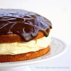 Boston Cream Pie - easy and impressive. {The Girl Who Ate Everything} #recipe #cake #dessert