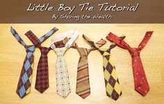 Little Boy Tie Tutorial. Looks really simple. Would use double folded bias tape and velcro for the neck part.