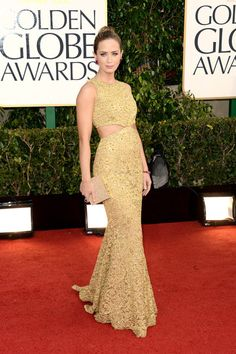 Emily Blunt in Michael Kors - Golden Globe Awards 2013
