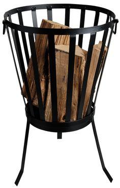 Amazon.com: Esschert Design USA FF69 Outdoor Metal Firebasket: Patio, Lawn & Garden