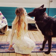 boho bride, rose, anim, wolf, dresses, brides, the dress, bohemian weddings, big dogs