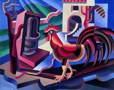 245. Depero, Fortunato  - 1935 - Il gallo - Rovereto, Museo Civico