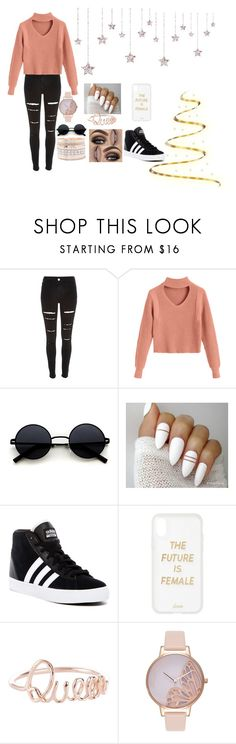 """""""#24"""" by luna-djjoganio ❤ liked on Polyvore featuring River Island, adidas, Sonix, Olivia Burton, Charlotte Russe, men's fashion and menswear"""