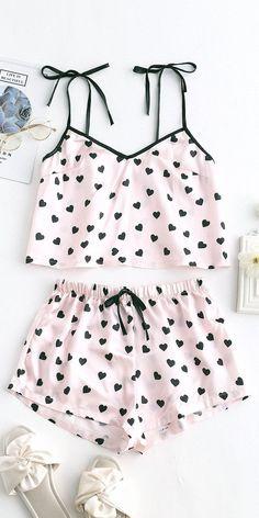 Cute Sleepwear, Sleepwear Women, Pajamas Women, Cute Pajama Sets, Cute Pajamas, Cute Pjs, Night Outfits, Girl Outfits, Fashion Clothes