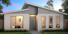 The Cascade 114 is a great design. The front of the home features 3 reasonably s. The Cascade 114 Modern Small House Design, Small Tiny House, New Home Designs, Home Design Plans, House Roof, Facade House, New Model House, Hotondo Homes, Modern Bungalow House