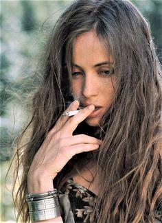 Emmanuelle Béart photographed by Jean-Marie Périer, 1993.