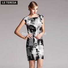 $46.00 2013 spring new brand women's counters authentic elegant sleeveless vest dress dyeing dress summer the female main