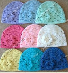 Free Crochet Baby Patterns - Easy Crochet Patterns for Babies Bonnet Crochet, Crochet Beanie, Knit Or Crochet, Crochet For Kids, Crochet Crafts, Yarn Crafts, Crochet Projects, Crocheted Hats, Easy Crochet