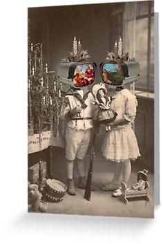 """SURREAL HOLIDAY"" Greeting Cards by julialillard | Redbubble"