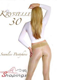 Pantyhose :: Seamless Pantyhose :: Krystelle 30 Seamless Pantyhose - Shapings.com