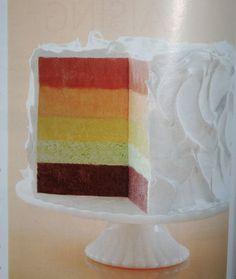Frozen Rainbow Chiffon Cake!