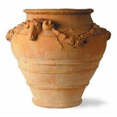 The Sussex is a distinctive large garden urn with decorative rams head s and a floral wreath decorating the top. It is made from lightweight fibreglass to cleverly replicate terracotta Large Terracotta Pots, Stone Plant, Plastic Plant Pots, Rectangular Planters, Wooden Planter Boxes, Barrel Planter, Fiberglass Planters, Garden Urns, Metal Planters