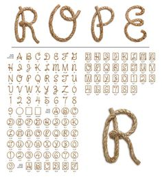 T.26 Digital Type Foundry | EPS : Letterparts Rope Set