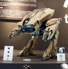 Closer look at RoboCop ED-209 painted prototype at Winter Wonderfest in Japan  #threezero #Wonderfest #Japan