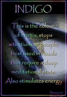 Candles: Indigo ~ This is the color of . / Book of Shadows Candles: Indigo ~ This is the color of . / Book of Shadows Magick Spells, Wicca Witchcraft, Candle Spells, Candle Magic, Chakras, Azul Indigo, Visualisation, Color Meanings, Color Magic