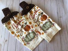 2 Pumpkin Spice kitchen towels, Pumpkin spice Life top kitchen towels, Fall Pumpkin Towels, Fall towels, Fall decor, Fall Kitchen towels