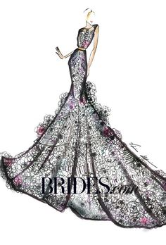 Brides.com: Kim Kardashian's Wedding Dress: Fantasy Designer Sketches. Val Stefani