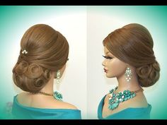 M Hairstyles for long hair. Updo hairstyles. Wedding bridal hairstyle. - YouTube