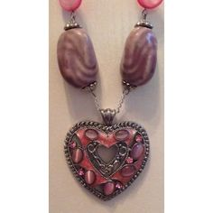 Pink and Purple Heart Long Necklace