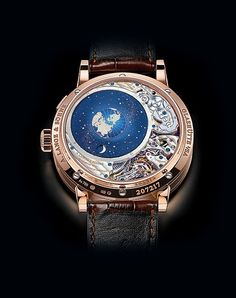 The #alangesohne Richard Lange Perpetual Calendar Terraluna (back) features one of the most complicated and unconventional moon-phase displays ever made.  The full story @ http://www.watchtime.com/featured/7-milestone-watches-from-a-lange-sohne/ #watchtime #horology #luxurywatches #watchnerd