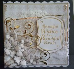 Card made using Dreamees flower stamps and Tonic's flourish die and sentiment