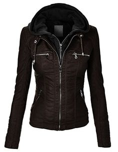 Cool Outfits, Fashion Outfits, Womens Fashion, Fashion Trends, Biker Chic, Hoodie Jacket, Moto Jacket, Mode Style, Coats For Women