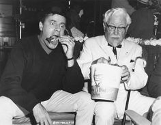 Rare and beautiful celebrity photos | Jerry Lewis and Colonel Sanders