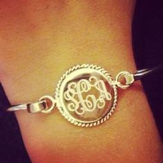 Monogramed bracelet for your bridesmaids