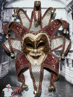Jester Mask, Clown Mask, Venetian Carnival Masks, Carnival Of Venice, Steampunk Mask, Dark Circus, Joker Wallpapers, Masks Art, Knights Templar