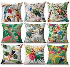 Free shipping, $9.04/Pieza:buy wholesale RUBIHOME Aves Print Cushions No interior Diseño Flor Poliéster Home Decor Sofá Asiento de coche Decorative Throw Pillow Capa De Cojines from DHgate.com,get worldwide delivery and buyer protection service.