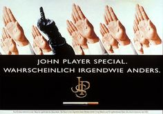 """John Player Special Cigarettes: """"HANDS (H F & P F Reemstma & Co.)"""" Print Ad  by Springer & Jacoby"""