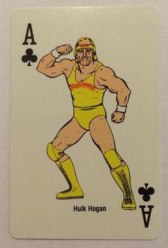 1988 WWF HULK HOGAN Single Playing Swap card