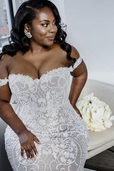 115 Likes, 8 Comments - Ilona Rubin Plus Size Wedding Gowns, Black Wedding Dresses, Bridal Dresses, Bridesmaid Dresses, Plus Size Brides, Wedding Attire, Wedding Bride, Wedding Ideas, African American Brides