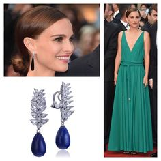 We love the Lanvin dress and De Grisogono Onyx & Diamond earrings Natalie Portman wore at Cannes. Channel her outfit with these Diamond & Lapis drop vintage estate earrings, available at www.gleem.co http://www.gleem.co/products/diamond-lapis-earrings-0001#RedCarpetFashion #RedCarpetStyle #RedCarpet #Cannes #Cannes2015 #KateYoung #estatejewelry #vintagejewelry #highjewellery #finejewelry #antiquejewelry #lapis #wedding #weddingjewelry #somethingblue #Lanvin #sicario #sicariopremiere
