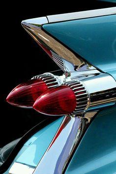 "crazy-joe-white: ""Classic Cadillac fin in blue and chrome. Beautify old school hotrod. 1959 Cadillac, 1957 Chevrolet, Chevrolet Trucks, Chevrolet Impala, Vw Vintage, Cadillac Eldorado, Us Cars, Retro Cars, Car Photography"