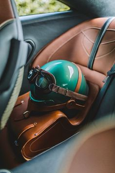 #astonmartin #cars #supercars #safety #design #photography #carlovers ✔️ Aston Martin Dbs, Bomber Seats, Bespoke Cars, Automobile, Porsche 356, Car Detailing, Le Mans, Tan Leather, Super Cars
