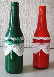 Resultado de imagen para Garrafas decoradas para o NATAL